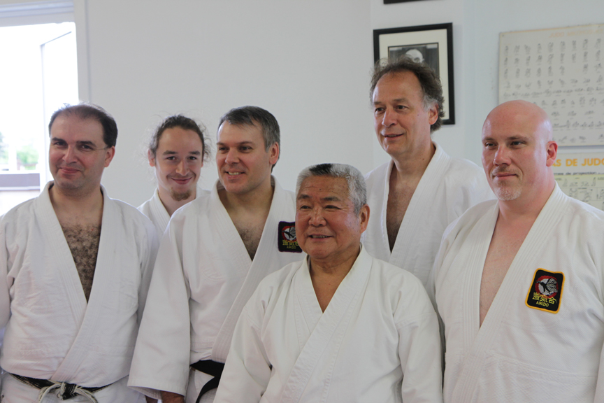 Kimeda Sensei and the visitors from Montreal.
